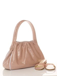 Free Luxury Pink Female Bag And Shoes Stock Photos - 9636953