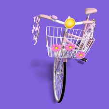 Free Flower Power Bike Royalty Free Stock Image - 9637686