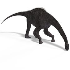 Free Giant Dinosaur Brachiosaurus With Clipping Path Royalty Free Stock Photo - 9637695