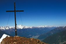 Free Cross On Top Of The Mountain Stock Photos - 9638403