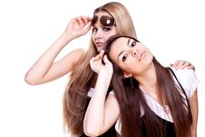 Free Two Beautiful Women In A Suit Stock Photography - 9638412