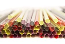 Closeup Of Drinking Straws Stock Images