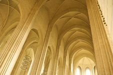 Free Ceiling And Pillar In A Church Stock Images - 9638744