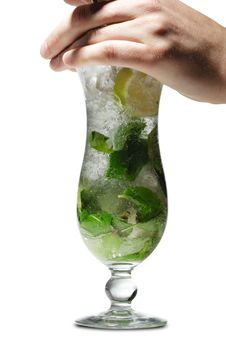 Free Cocktail - Mojito Royalty Free Stock Images - 9639109