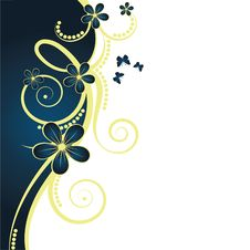 Free Abstract Floral Background Royalty Free Stock Images - 9639279