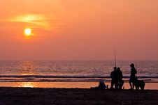 Free Fishermen On The Beach Stock Photos - 9639713