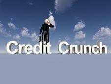 Free Businessman And Credit Crunch Stock Photography - 9639902