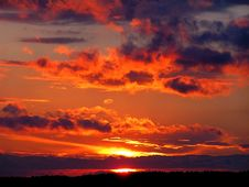 Free Sky, Afterglow, Red Sky At Morning, Sunset Stock Photos - 96326073