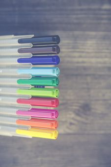 Free Colored Pen Set At Daytime Royalty Free Stock Photos - 96364758
