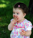 Free Baby Girl In Park Royalty Free Stock Image - 9646426