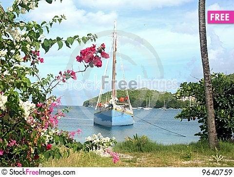Free Caribbean Schooner Royalty Free Stock Images - 9640759