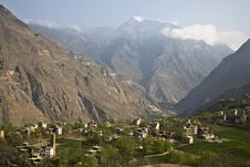 Free Village In Mountains Stock Photography - 9640242