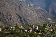 Free Village In Mountains Stock Photography - 9640392