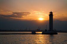 Free Lighthouse At Dusk Royalty Free Stock Photo - 9640545