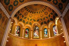 Free Church Interior Royalty Free Stock Photo - 9640615