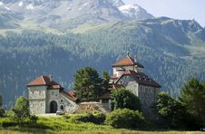 Castle In The Alps Stock Images