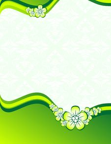Free Green Floral Background Royalty Free Stock Photo - 9641305