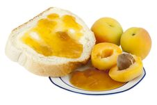 Free Apricots, Apricot Jam For Breakfast Stock Photography - 9641382