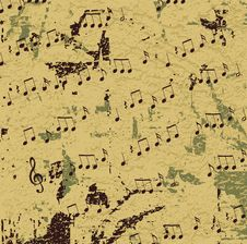 Free Abstract Musical Design Raster Royalty Free Stock Images - 9641709
