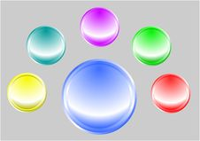 Free Colored Buttons Set Stock Photography - 9641952