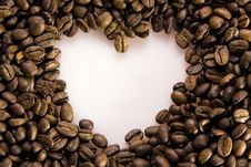 Free Coffee Beans Forms Heart Stock Image - 9641981