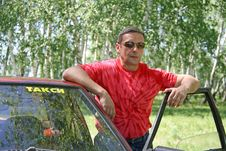 Free Taxi Driver Pending Clients Royalty Free Stock Images - 9641999