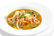 Thai Dishes - Seafood With Lemon Sorgho Stock Photos