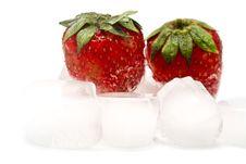 Free Strawberry And Blocks Of Ice Stock Image - 9642221