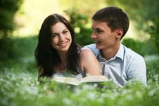 Free Couple In The Park. Royalty Free Stock Image - 9642696