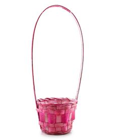 Free Empty Pink Wicker Basket Isolated Royalty Free Stock Photography - 9642807