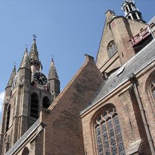 Free Old Dutch Church Royalty Free Stock Photography - 9643877
