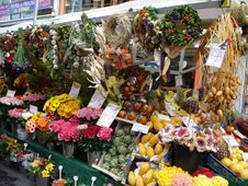 Flower Market Stock Image