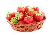 Free Fresh Strawberries, Isolated On White Royalty Free Stock Image - 9644166