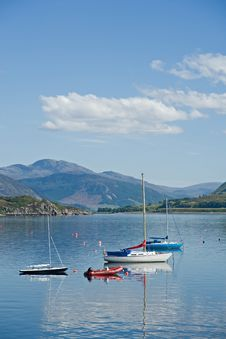 Free Yachts On Loch Broom. Royalty Free Stock Image - 9645716