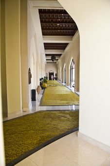Free A Luxurious Corridor In A Hotel. Royalty Free Stock Image - 9647426
