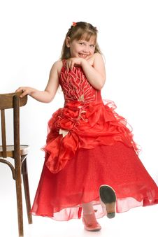 Free Girl With Chair Royalty Free Stock Photos - 9647718