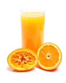 Orange And Juice In Glass Royalty Free Stock Image