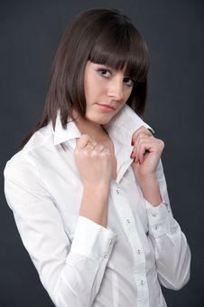Free Pretty Fashion Model Posing On A Dark Background Royalty Free Stock Photo - 9649365
