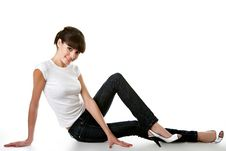 Free Beautiful Young Adult Girl Posing In A Studio Stock Photography - 9649522