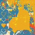Free Abstract Grungy Background Heart Illustration Stock Image - 9651691