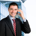 Free Businessman On Mobile Royalty Free Stock Image - 9652536