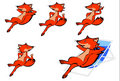 Free Fox- Illustrator -material Royalty Free Stock Photos - 9652708