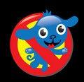 Free Sign Stop No Dog Royalty Free Stock Photos - 9653078