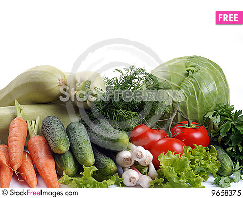 Free Set Of Different Vegetables Royalty Free Stock Photo - 9658375