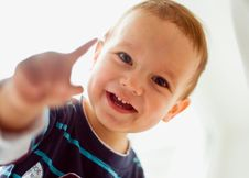 Free A Little Boy Smiling Stock Image - 9650561