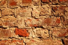 Antique Old  Brick Wall. Stock Photography