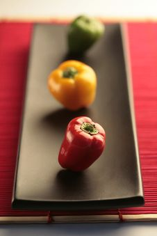 Free Colored Peppers Royalty Free Stock Photography - 9651987