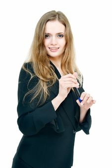 Free Pretty Business Lady Royalty Free Stock Photography - 9652877
