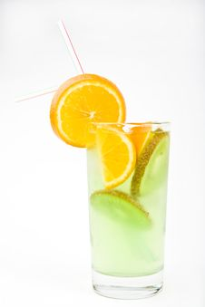 Free Cold Fresh Cocktail Drink With Mint Close Up Stock Images - 9653114