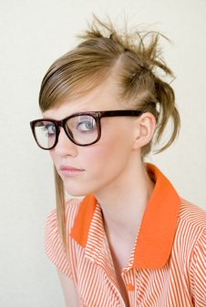 Free Girl In Glasses Royalty Free Stock Photography - 9653757